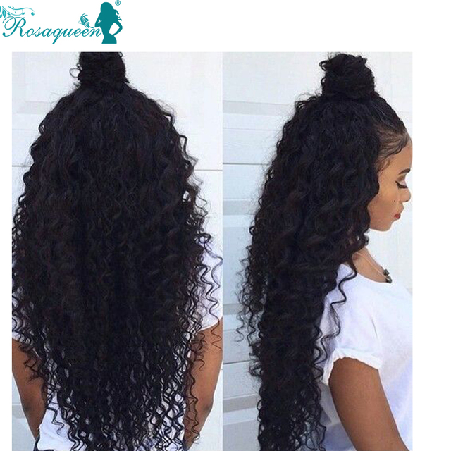 Curly Weave Human Hair 6A Peruvian Virgin Hair 3 Bundles Peruvian Deep Wave Rosa Queen Hair Products Deep Wave Virgin Hair
