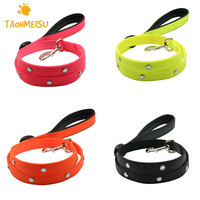 Luminous USB Rechargeable LED Waterproof Pet Leash Dog Leash With Built In Battery