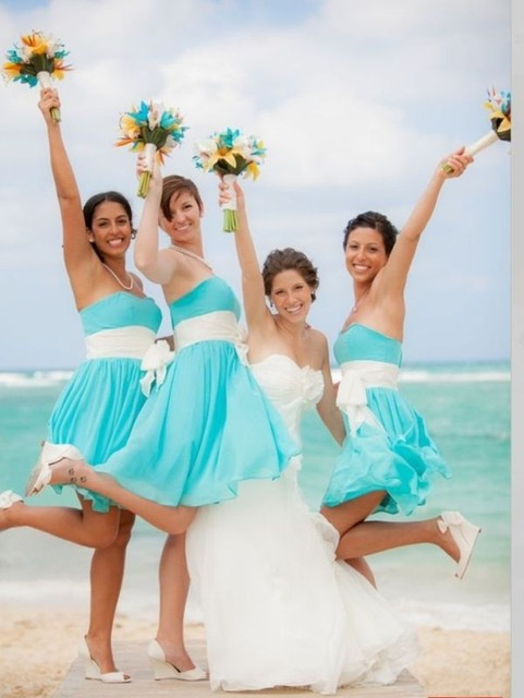 Beach Theme Bridesmaid Dresses