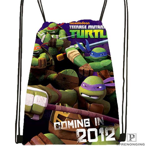 Custom _mutant_ninja_turtles Drawstring Backpack Bag Cute Daypack Kids Satchel (Black Back) 31x40cm#2018611-25