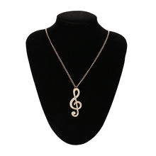 Flawless Women Necklace Choker Crystal Music Note Pendant Chain Sweater Necklace Pendientes Ornaments Fabulous Trinket Necklaces(China)