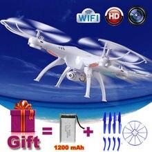 2.4g x5sw syma rc drone quadcopter con cámara hd wifi fpv helicóptero de control Remoto de juguete de Regalo 1200 mAh actualiza Batería VS X5HW