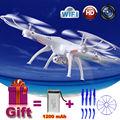 2.4G Syma X5SW rc drone quadcopter com HD WI-FI câmera FPV helicóptero de brinquedo de controle Remoto Presente 1200 mAh Bateria atualização VS X5HW