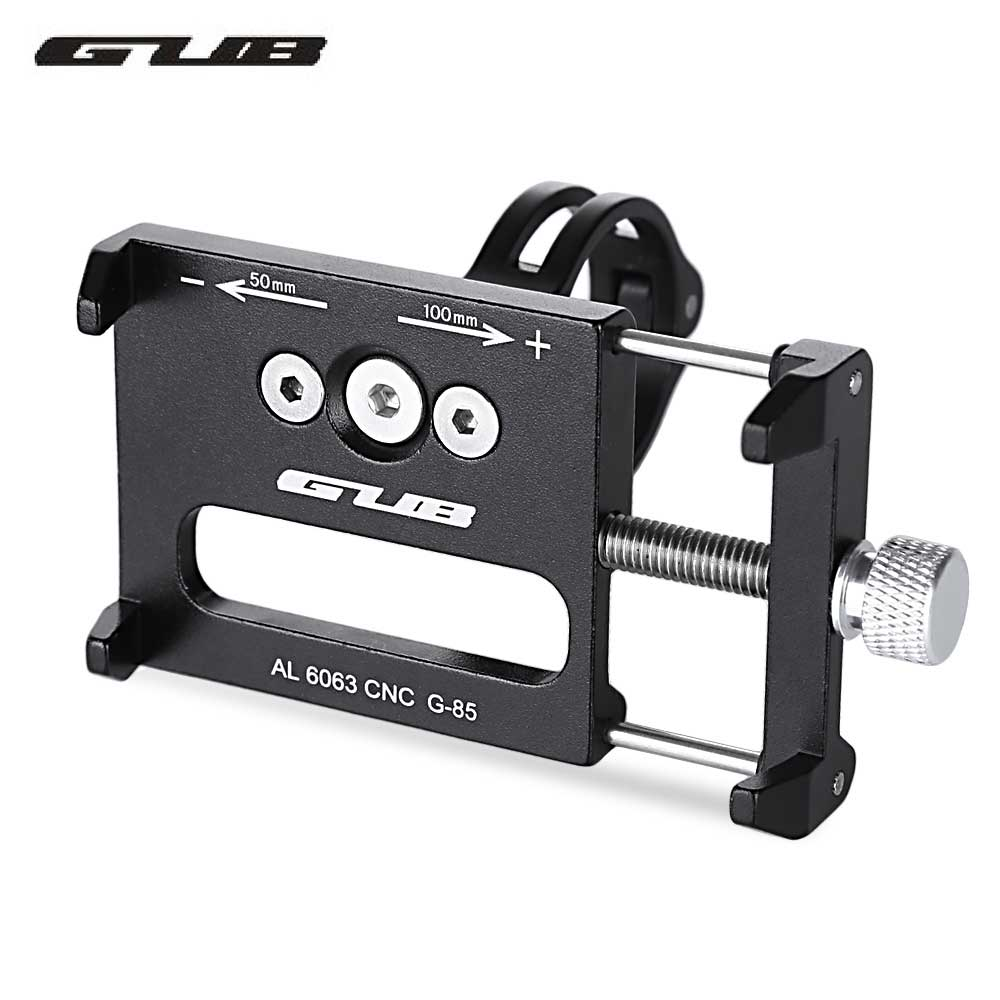 GUB G - 85 Aluminum Alloy MTB Bike Mount Bicycle Phone Holder Support GPS Bicycle Handlebar Bike Phone Mount Cycling Holder