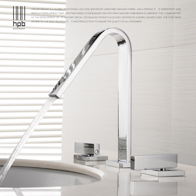 HPB European Style Widespread Basin Faucet Bathroom Sink Mixer Tap ...