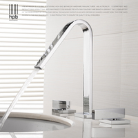 HPB European Style Widespread Basin Faucet Bathroom Sink Mixer Tap Dual Handle Three Hole Hot And Cold Water Deck Mounted HP3209