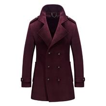 Качество Мужская зимняя шерсть пальто мужской пиджак коричневый пальто мужчины peacoat манто homme hombre лана abrigo jaqueta masculina inverno