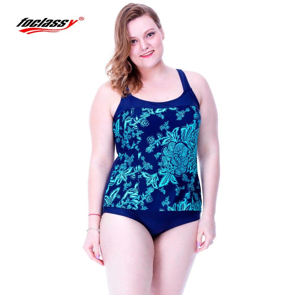 Foclassy Bikini 2017 Plus Size Womens swimming suit Bandeau Bather Bathingsuit Beach Wear Mai Women one piece Swimsuit