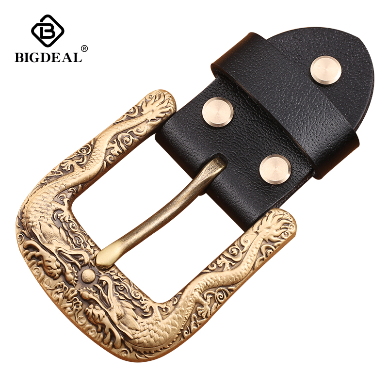 Solid Brass Men Belt Buckle 40mm Metal Pin Buckle Fashion Jeans Waistband Buckles For 3.8cm Belt DIY Leather Craft Accessories