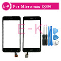 "High Quality 4.7"" For Micromax Canvas Spark Q380 Touch Screen Digitizer Sensor Glass Lens Panel Black White + TOOLS"