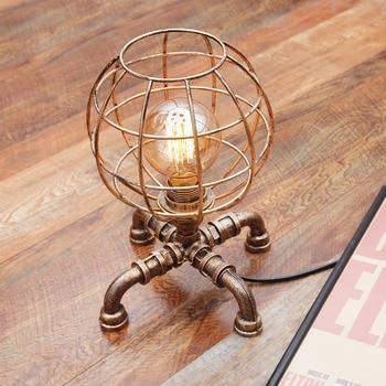 Ijzer Kunst Tafel Licht Persoonlijkheid Bureau Lampen Designer Slaapkamer Bedlampje Amerikaanse Led Lamp Edison Reding Lamp LU8141345