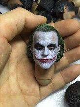 1/6 Ölçekli Joker Başkanı Şekillendirici heath ledger Yüksek Kaliteli Kafa Oyma 12 inç Hottoys Phicen Tbleague Verycool Eylem Şekil DIY