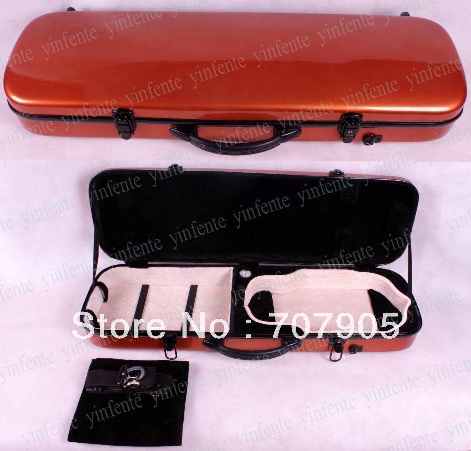 Здесь можно купить   1x New 4/4 violin Water Proof Glass fiber Square Case Dropshipping Wholesale High quality Orange Спорт и развлечения