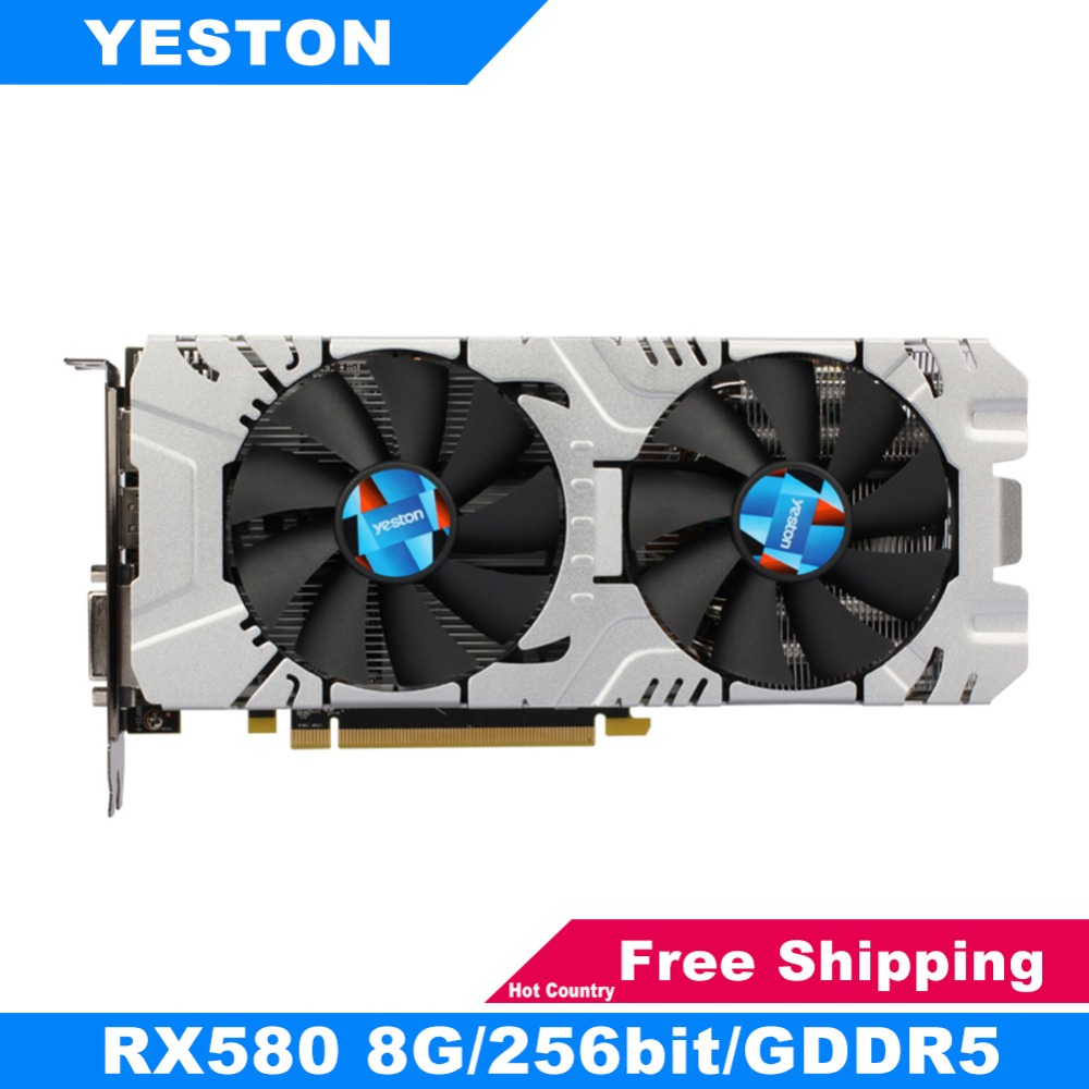 Yeston RX580 Graphics Cards 256bit GDDR5 PCI-Express 3.0 Gaming Desktop Computer PC Video Graphics Cards Support DVI-D HDMI DP yeston radeon rx 550 gpu 4gb gddr5 128bit gaming desktop computer pc video graphics cards support pci e 3 0
