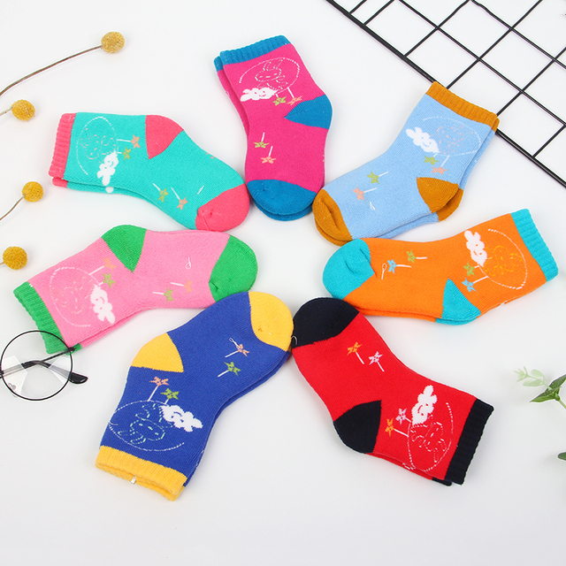 Girls' Cute Bright Cotton Socks