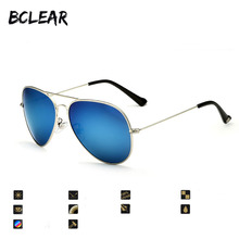 BCLEAR hot unisex fashion sunglass high quality polarized classic double bridges mirror UV400 sunglasses Anti-Reflective popular