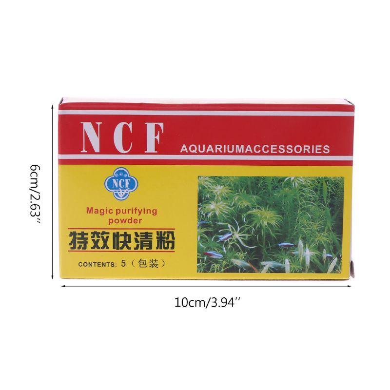 Купить с кэшбэком 5 bags Aquarium Purifier Powder Efficient Immune Bactericide Water Cleaner for aquarium