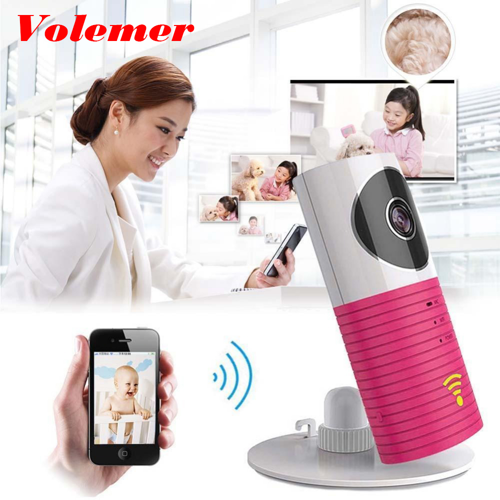 Volemer New CCTV Wireless Camera Baby Monitor IP Smartphone Video Night Vision 2 Way Talkback With Motion activated Cell Alert