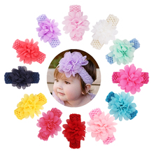 Candygirl Baby Girl Toddler Headbands Floral Hairband Hollow Elastic Ribbon Cloth Phtography Props Infant Hair Accessories