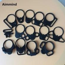 Ar15 dupla loop sling montagem adaptador placa de extremidade montagem para ar 15 buffer tubo sling giratória