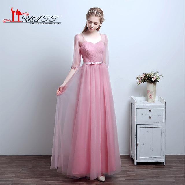 Vintage Sweeth Neckline Tea length Illusion Lace Dress Cuff Style ...