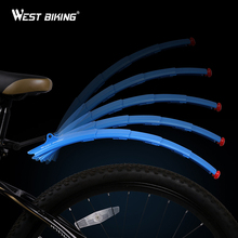 Telescopic Folding Bicycle Fenders with Taillight