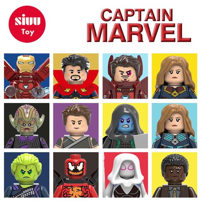 Super-heróis Homem-Aranha homem de Ferro Capitão Americano de Maravilhas Ant Homem LEGOINGLYS Blocos de Construção de Mini figuras Tijolos Brinquedos Para Crianças