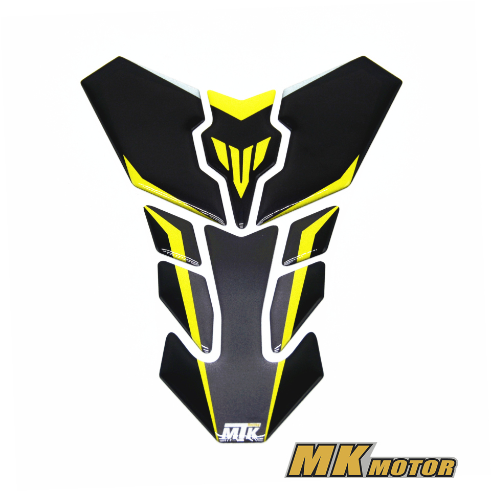 For YAMAHA MT25 MT03 MT07 MT09 MT10 FZ07 FZ09 Motorcycle 3D Tank Gas Cap Pad Filler Cover Sticker Decals
