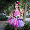 Pink & Purple Girls Tutu Kids Children's Tutu Photo Prop Birthday Tutu Skirt Size 5,6,7,8,10,12, Hot Pink Lavender