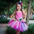 Rosa y Púrpura Del Tutú de Las Muchachas Niños Falda Del Tutú Del Cumpleaños del Tutú de Los Niños Apoyo de la Foto Tamaño 5,6, 7,8, 10,12, caliente Rosa Lavanda