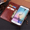 Luxury PU leather with Mount Stand Holder Card Slot Phone Case Flip Wallet Cover For Samsung Galaxy S5 S6 S7 Edge S6Edge Plus