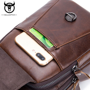 Image 5 - BULL CAPTAIN Quality Men Leather Crossbody Bags Cowhide Casual Riding Sling Shoulder Messenger Bag Chest Day Back Pack