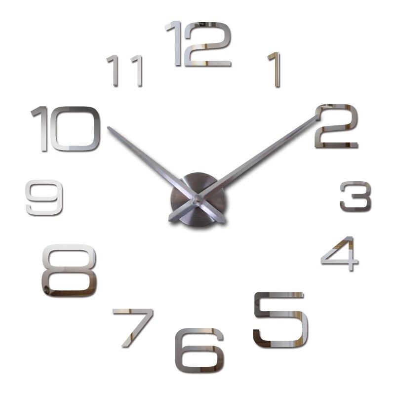 New hot quartz vente calme horloge murale intéressant 3d diy décor à la maison horloges chiffre romain art autocollants unique mur montres