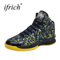 Ifrich Shoes Women Basketball High Sneakers Boys Sport Blue Black Sport Shoes Men Basketball New Cool