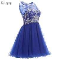 Cute Sheer Scalloped Sleeveless 8th Grade Beaded Crystals Sweet 16 Dresses Short Short Homecoming Dress 2020