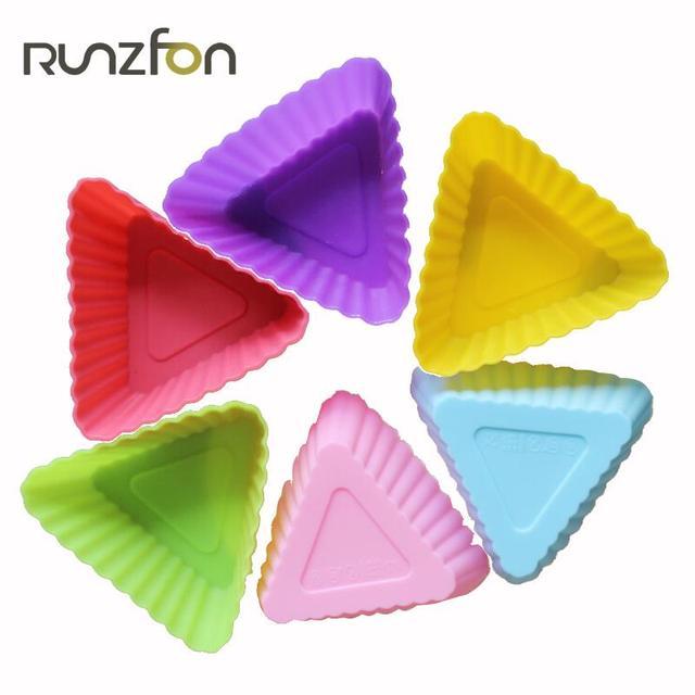 Colore casuale triangolo forma stampi per dolci in silicone budino ...
