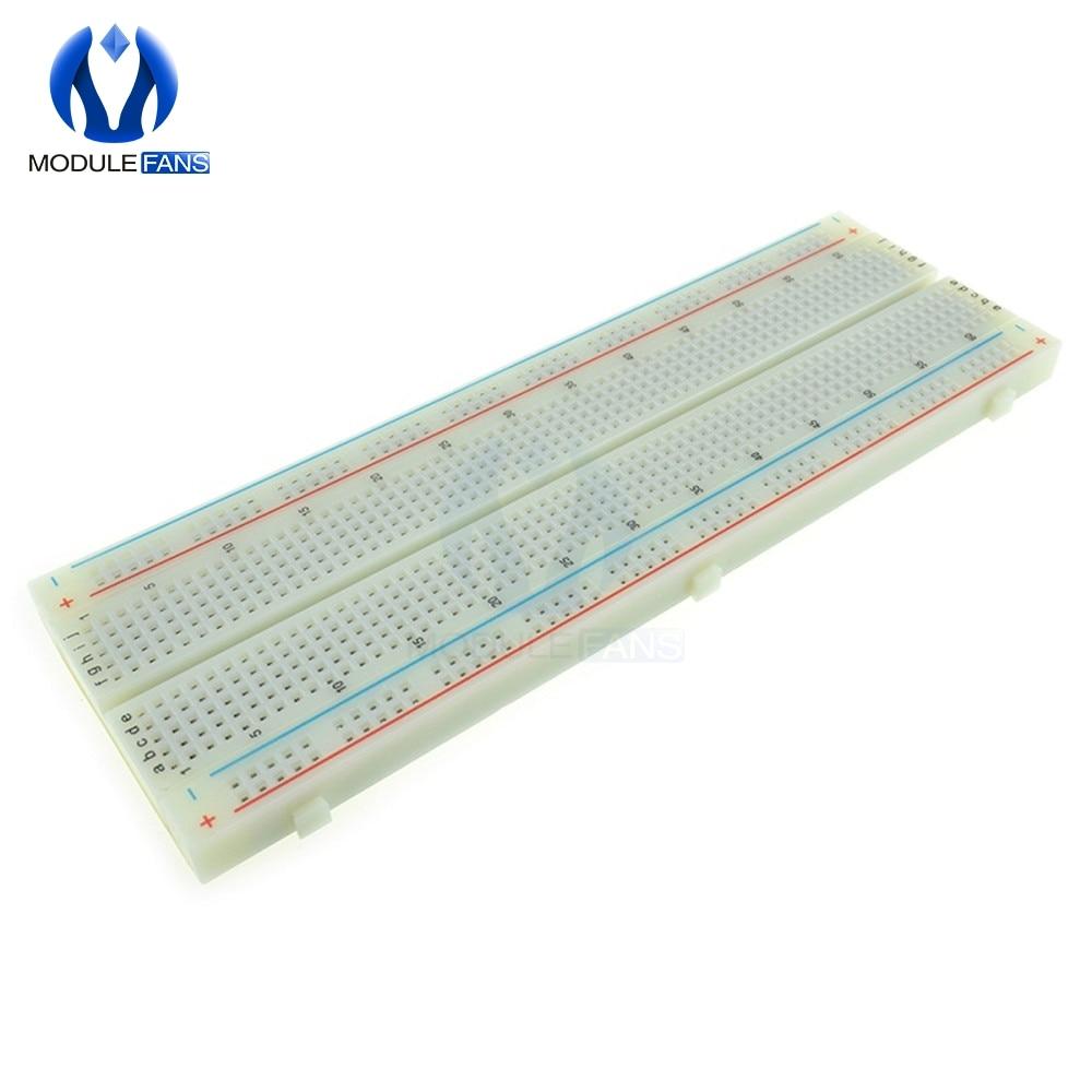Solderless PCB Bread board Protoboard MB102 830 Tie Points PCB Test DIY