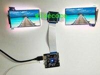 3840*2160 5,5 дюймов 4 К панели ЖК дисплей ips двойной экран ЖК модуля дисплей с HDMI к MIPI плате контроллера для Raspberry Pi 3