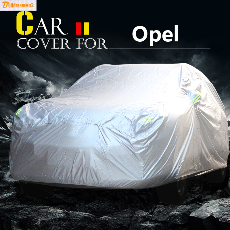 Buildreamen2 Car Cover Sun Snow Rain Dust Protector Cover Waterproof For Opel Signum Antara Meriva Zafira