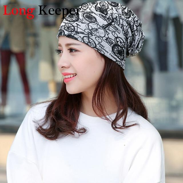 Long Keeper Unisex Thin Beanie Hat Female Skullies and Beanies Women Turban  Skully Hat Cap Bike 71940eb065b