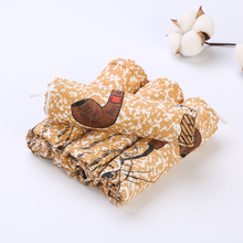 3pc Animal Gentleman Childrens Wash Gauze Handkerchief Baby Towel Neonatal Mouth 6 Layer 33*33CM