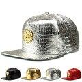 Moda Grano Del Cocodrilo Diamante gorra de béisbol de Medusa Marea marca afluencia de personas hombres y mujeres sombrero de ala plana hip-hop sombrero