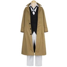 Bungo Stray Dogs Armed Detective Agency Osamu Dazai Cosplay Coat Suit Pants Vest Literary Stray Dogs Halloween Costume anime bungou stray dogs backpack teenage girl school bags dazai osamu chuya nakahara women men backpack bungo stray dogs bag