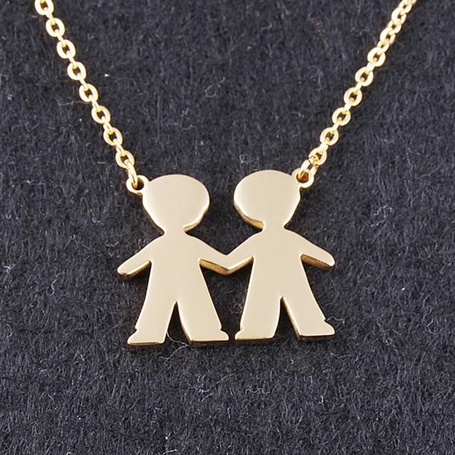 Freundschaft Bijoux Valentinstag 2 Jungen Beste Freundin Halskette