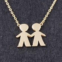 Friendship Bijoux Valentine 's Day 2 Boys Best Friend Necklace Pendant Famliys Brother Pendant Choker Collier for Wedding Gfit