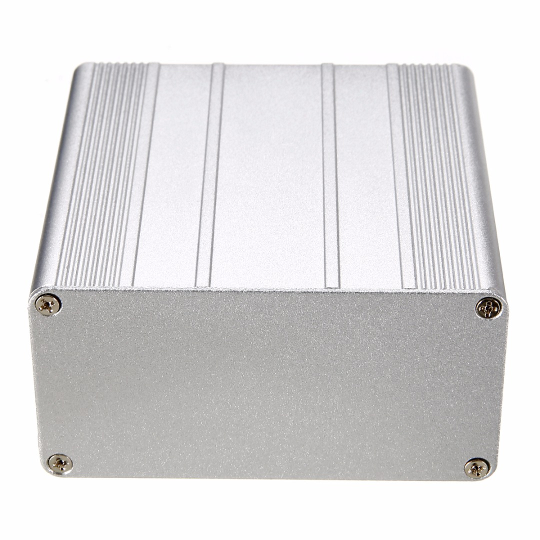 Aluminum Instrument Case DIY Electronic Project PCB Instrument Box Enclosure Case with Corrosion Resistant 100x100x50mm карабин camp camp hms lock