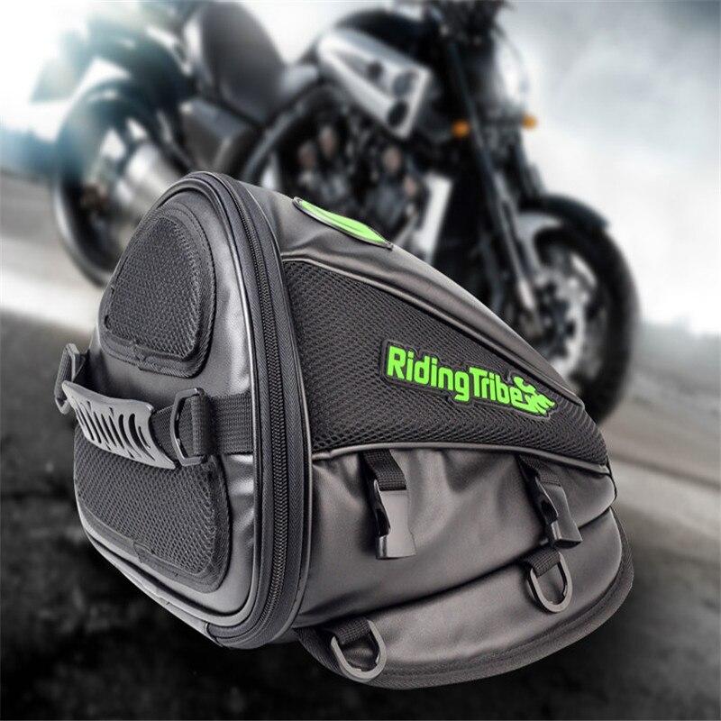Riding Tribe Motorcycle Bags Leather Saddle Bags Travel Tool Tail Bag Waterproof Handbag Backpack Motocicleta Oil