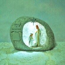 Перстень из нержавеющей стали рождения смолы украшения христианские подарки на день рождения Христос украшения Евангелие подарки