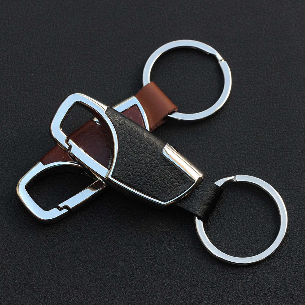 Thời trang Da Dây Đeo Keyring Keychain Key Chuỗi Phù Hợp Cho Mercedes Benz W203 W210 W211 AMG W204 C E S CLS CLK CLA SLK Classe