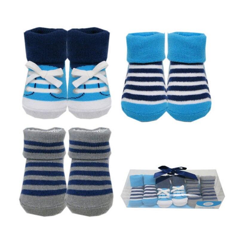 2018 3 Pairs Baby Socken Für Jungen Baumwolle Neugeborenen Socken Für Kleinkinder Mix Farben 0-9 Mt Eine VollstäNdige Palette Von Spezifikationen
